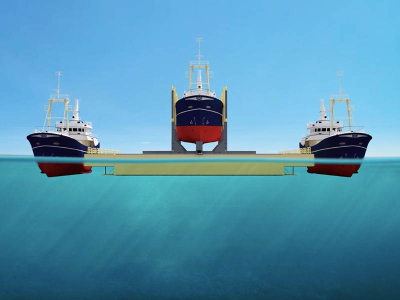 TUGDOCK - Stable floating drydock