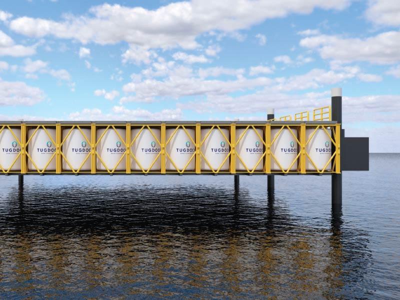 TUGDOCK - Easy storage floating drydock